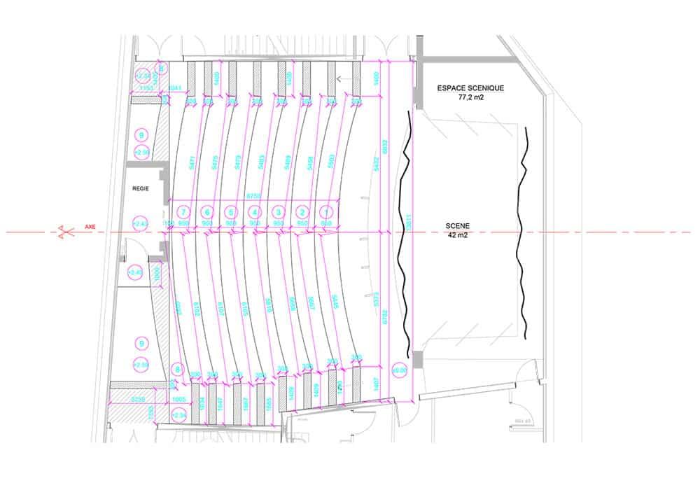 plan sur mesure gradins bois
