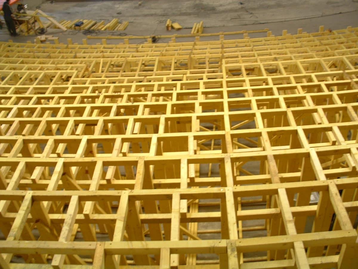ossature bois tribunes fixes